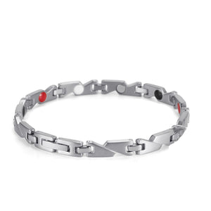 La Mia Cara Jewelry - Health Care Jewelry Women - Rainso Silver Magnetic Bracelet