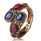 La Mia Cara Jewelry - Notte di Persia - Sapphire & Ruby - Antique Vintage Gold Bangle