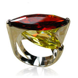 La Mia Cara Jewelry - Bjonda - Garnet & Citrine Silver Cocktail Ring