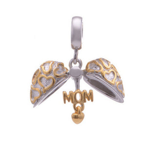 La Mia Cara Jewelry -  Cuore Aperto Charm - Open Heart Mother's Day Gift Charm