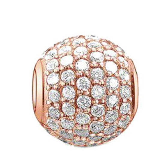 La Mia Cara Jewelry - Benedetta Charm - Rose Gold Crystal Charm