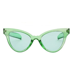 La Mia Cara - NAPLES - CANDY GREEN RETRO INDIE FESTIVAL THIN CAT EYE SUNGLASSES