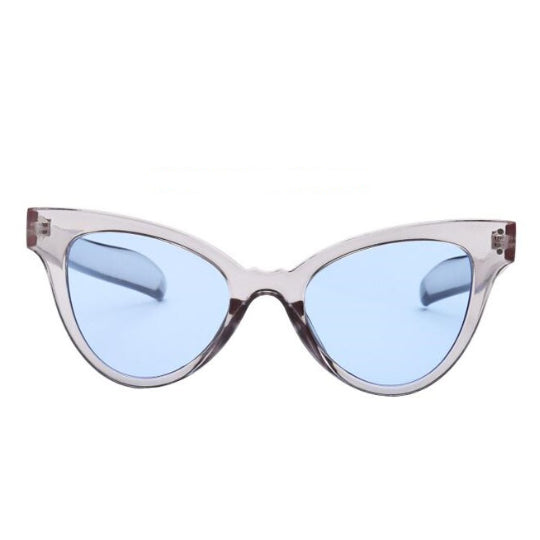 La Mia Cara - NAPLES - CANDY BLUE RETRO INDIE FESTIVAL THIN CAT EYE SUNGLASSES