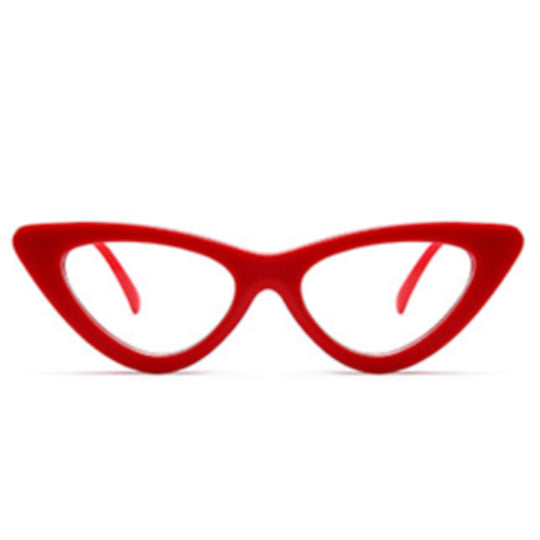 La Mia Cara - Siena - Sexy Red Cat Eye Retro Optical Glasses  - Myopia Eyewear