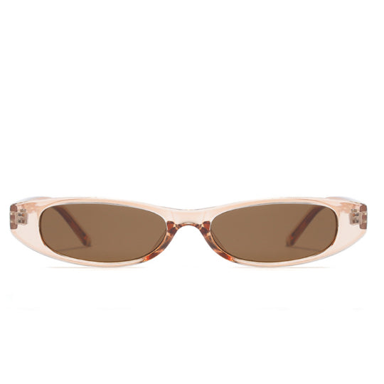 La Mia Cara - STOCKHOLM NUDE - UNISEX 90'S RETRO THIN RECTANGLE COLOR TONE LENS SUNGLASSES