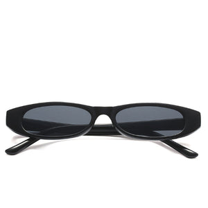 La Mia Cara - STOCKHOLM BLACK - UNISEX 90'S RETRO THIN RECTANGLE COLOR TONE LENS SUNGLASSES