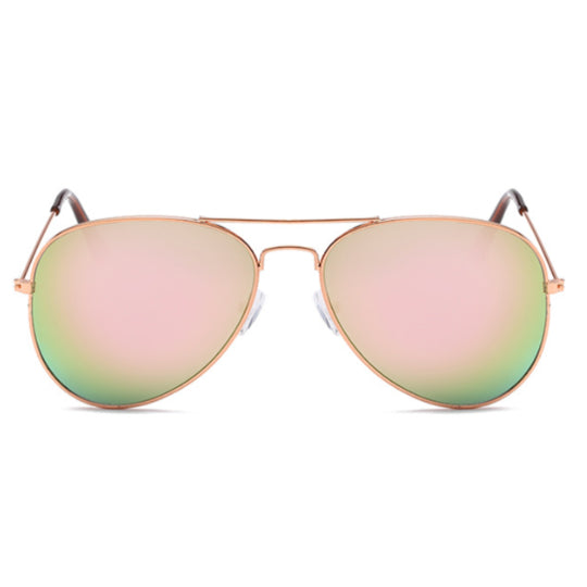 La Mia Cara - PARIS - ROSE CLASSIC AVIATOR MIRRORED LENS METAL SUNGLASSES UNISEX