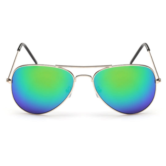 La Mia Cara - PARIS - BLUE/GREEN CLASSIC MIRRORED LENS AVIATOR SUNGLASSES