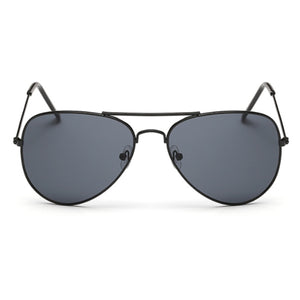 La Mia Cara - PARIS - BLACK CLASSIC AVIATOR MIRRORED LENS METAL SUNGLASSES UNISEX