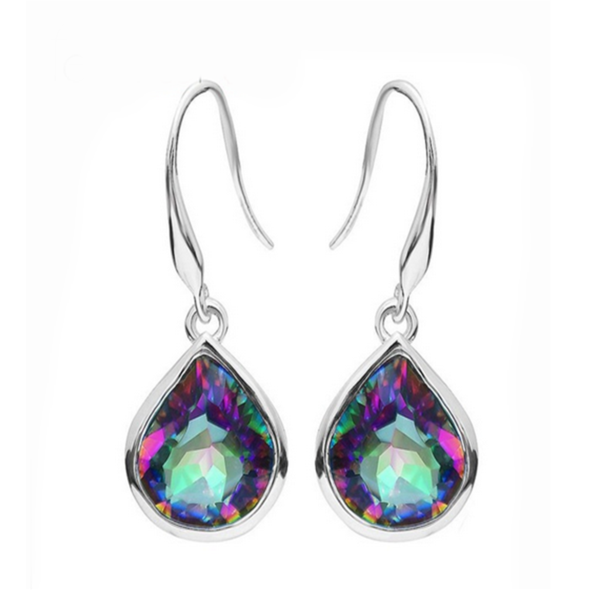Arc en Ciel - Mystic Topaz Sterling Silver Earrings - LA MIA CARA JEWELRY - 1