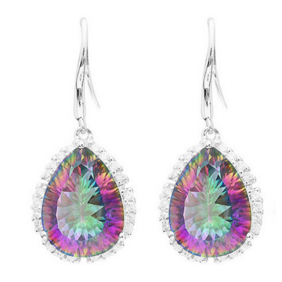 Arcobaleno - Mystic Topaz Sterling Silver Earrings - LA MIA CARA JEWELRY - 1