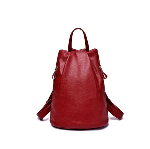Fiamma - Snazzy Genuine Leather Backpack - LA MIA CARA JEWELRY - 1