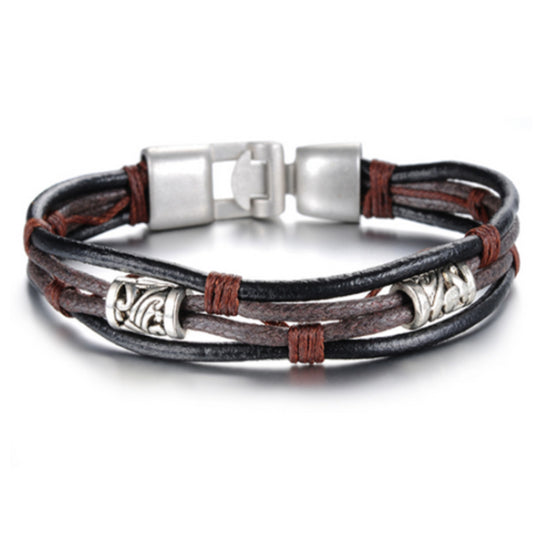 La Mia Cara Jewelry - Lindenberg- Vintage Men Leather Bracelet
