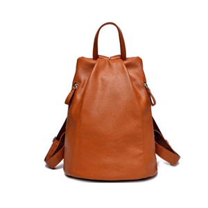 Fiamma - Snazzy Genuine Leather Backpack - LA MIA CARA JEWELRY - 3