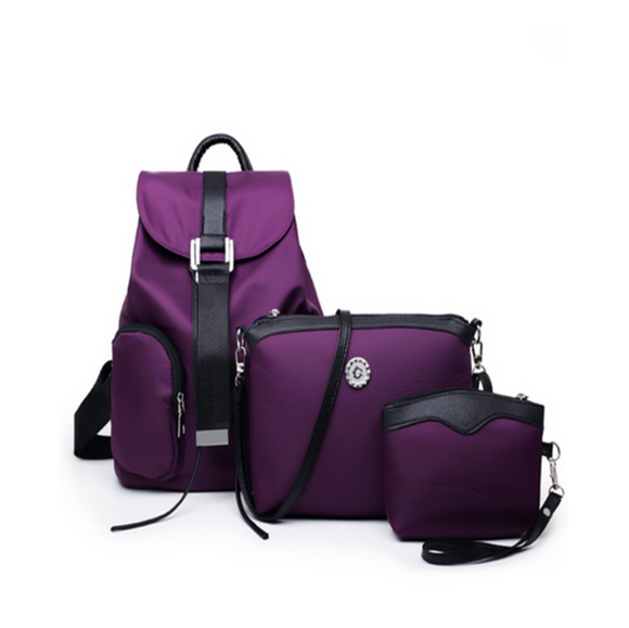 Sportbag -Fina - Set of Casual Sport Nylon Bags Female - LA MIA CARA JEWELRY - 3