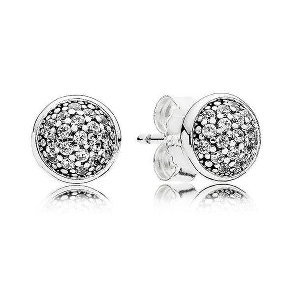 La Mia Cara Jewelry  - Pan- Dazzling Droplets CZ Diamond Stud Earrings