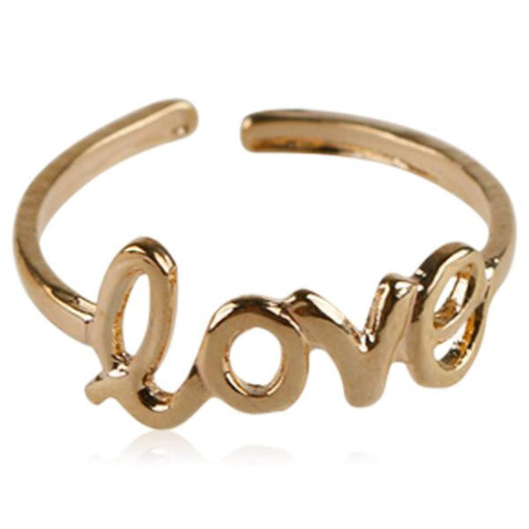Amoroso - Love Letter Gold / Silver Beach Toe Ring - LA MIA CARA JEWELRY - 1