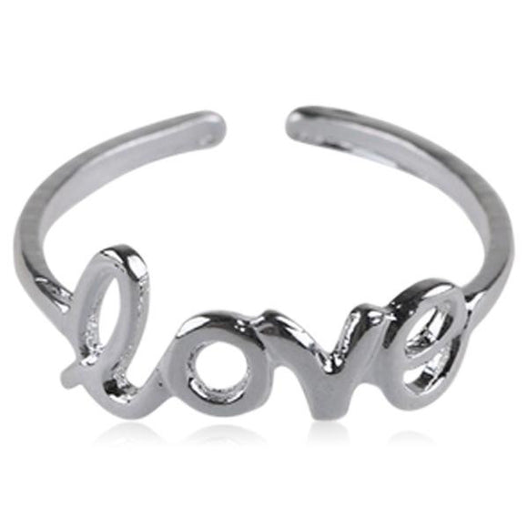 Amoroso - Love Letter Gold / Silver Beach Toe Ring - LA MIA CARA JEWELRY - 2