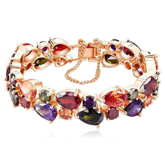 Arlecchino - Colorful CZ Diamond Gold Bracelet - LA MIA CARA JEWELRY - 2
