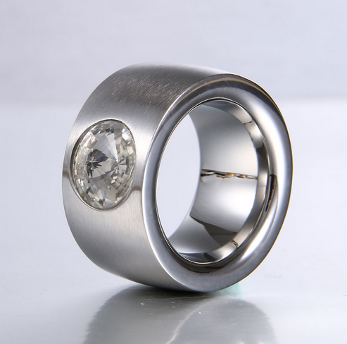 La Mia Cara Jewelry & Accessories - Elusive - CZ Diamond Stainless Steel Cocktail Ring