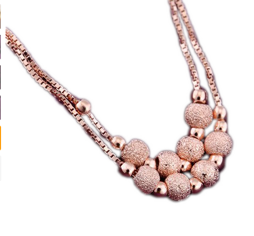 La Mia Cara Jewelry  - Semplicità - Rose Gold Charm Jewelry Lucky Beads Anklet
