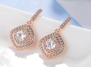 La Mia Cara Jewelry & Accessories - Allure - Clear CZ Stud Earrings