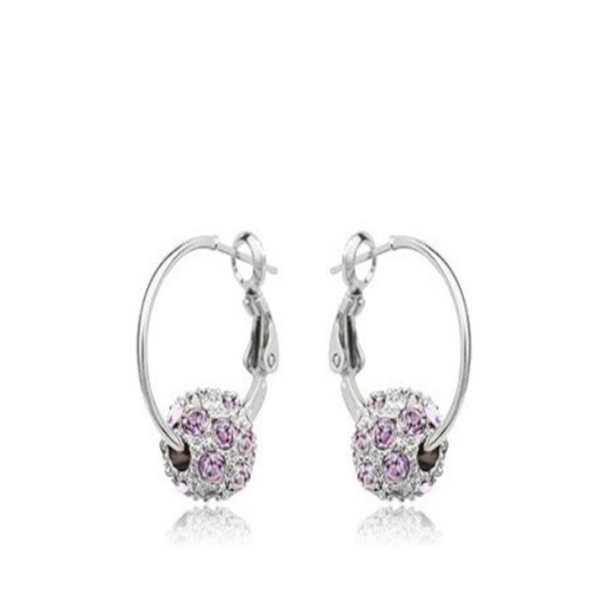 Beppina- Shiny Ball Crystal Silver / Gold Drop Earrings - LA MIA CARA JEWELRY - 8
