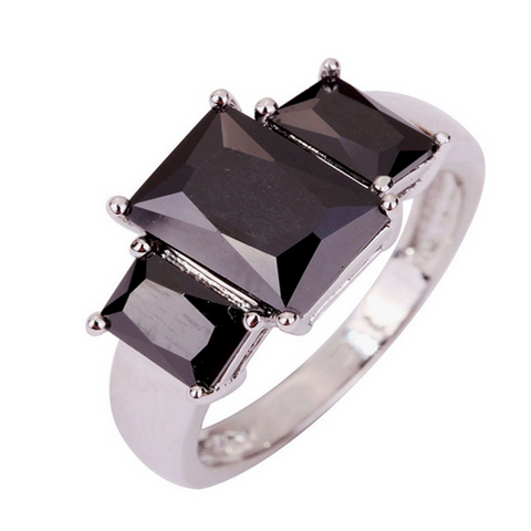 Cocktail Ring - Biagio - Black Spinel White Gold  - LA MIA CARA JEWELRY
