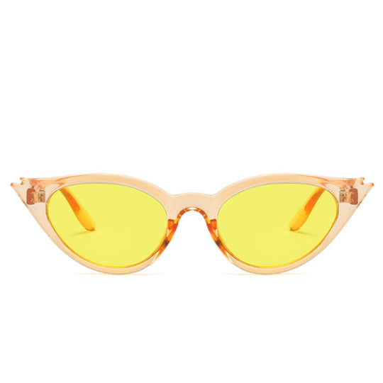 La Mia Cara Jewelry & Accessories - Rio de Janeiro - Yellow Cat Eye Retro Small Triangle Vintage Sun Glasses UV400