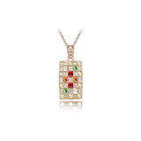 Chakira - Multi Color Swarovski Crystals Rose or White Gold Necklace - LA MIA CARA JEWELRY - 6