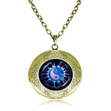 Collana Medaglione - Mandala Locket Pendant Statement Necklace - LA MIA CARA JEWELRY - 4