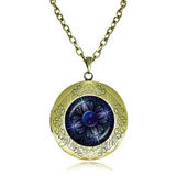 Collana Medaglione - Mandala Locket Pendant Statement Necklace - LA MIA CARA JEWELRY - 5