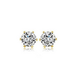 Cuore Freccia - CZ Diamonds Gold / Silver Stud  Earrings - LA MIA CARA JEWELRY - 2