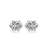 Cuore Freccia - CZ Diamonds Gold / Silver Stud  Earrings - LA MIA CARA JEWELRY - 5