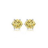 Cuore Freccia - CZ Diamonds Gold / Silver Stud  Earrings - LA MIA CARA JEWELRY - 6