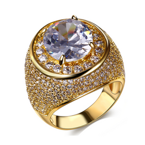 Cocktail Ring - Daria - CZ Diamond Platinum / Gold  - LA MIA CARA JEWELRY
