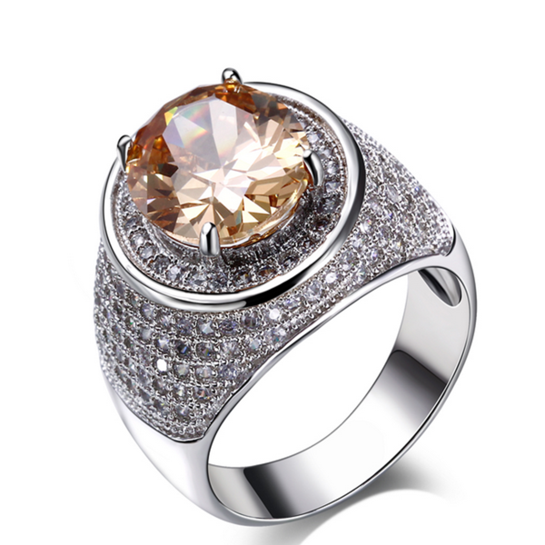 Cocktail Ring - Dario - CZ Diamond Platinum - LA MIA CARA JEWELRY