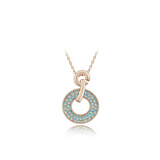 Domenica - Swarovski Crystal Circle Gold Necklace - LA MIA CARA JEWELRY - 4