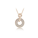 Domenica - Swarovski Crystal Circle Gold Necklace - LA MIA CARA JEWELRY - 5