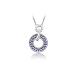 Domenica - Swarovski Crystal Circle Gold Necklace - LA MIA CARA JEWELRY - 6