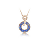 Domenica - Swarovski Crystal Circle Gold Necklace - LA MIA CARA JEWELRY - 2