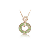 Domenica - Swarovski Crystal Circle Gold Necklace - LA MIA CARA JEWELRY - 7