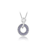 Domenica - Swarovski Crystal Circle Gold Necklace - LA MIA CARA JEWELRY - 9