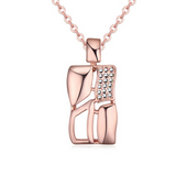 Domi - 4 Colors Swarovski Crystal Square Necklace - LA MIA CARA JEWELRY - 2