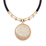 Emiliana - Swarovski Crystal Gold Disc Choker Necklace - LA MIA CARA JEWELRY - 4