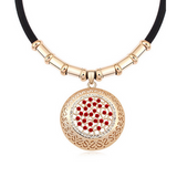 Emiliana - Swarovski Crystal Gold Disc Choker Necklace - LA MIA CARA JEWELRY - 2