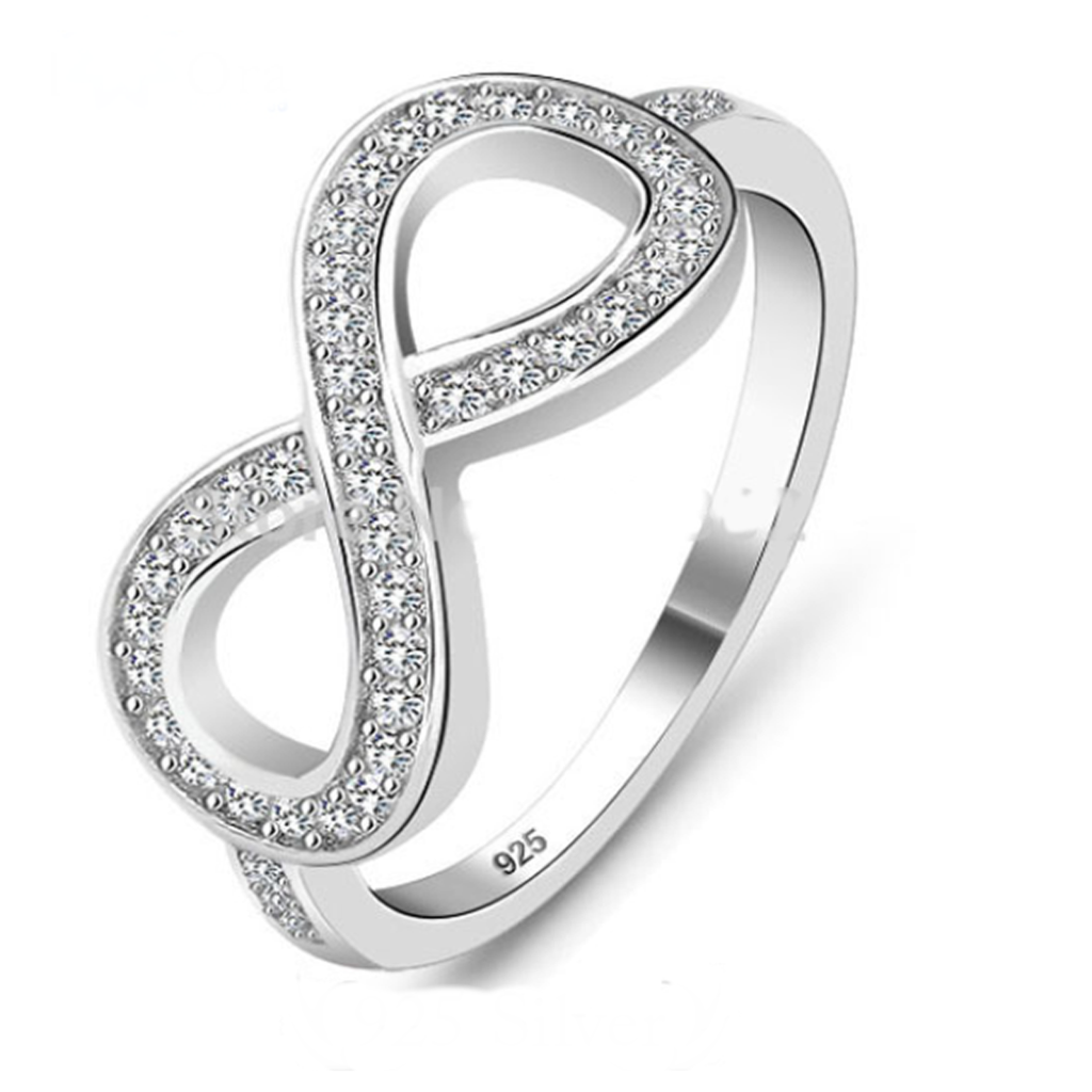 Cocktail Ring - Eternity - CZ Diamond Silver Ring - La Mia Cara Jewelry