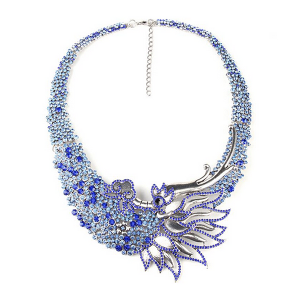 Fenice Dalle Ceneri - Rising Phoenix Style Vintage Statement Necklace - LA MIA CARA JEWELRY - 4