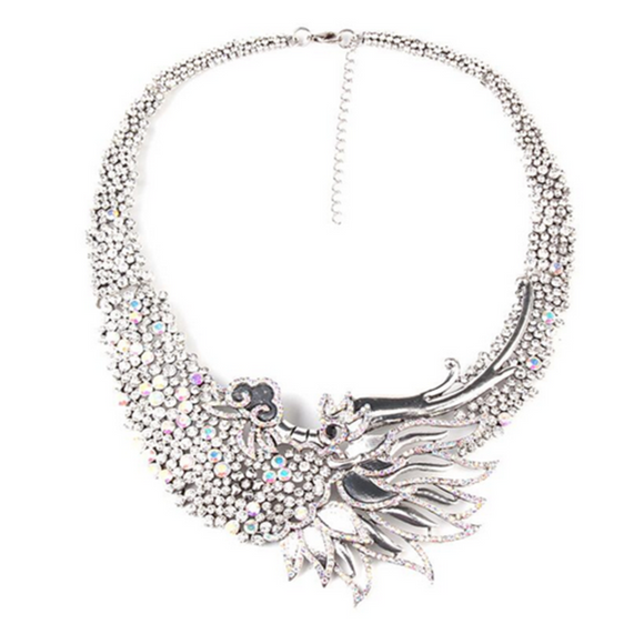 Fenice Dalle Ceneri - Rising Phoenix Style Vintage Statement Necklace - LA MIA CARA JEWELRY - 5