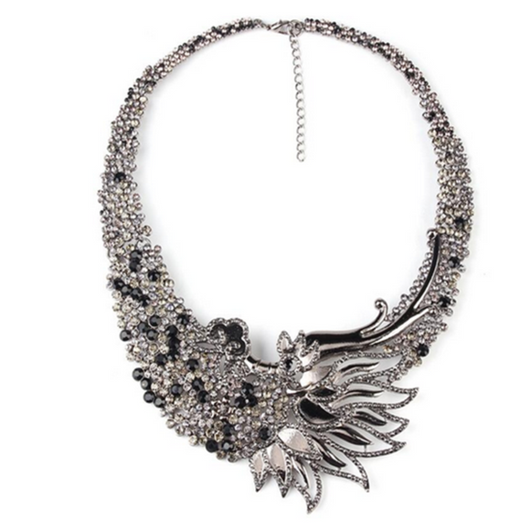 Fenice Dalle Ceneri - Rising Phoenix Style Vintage Statement Necklace - LA MIA CARA JEWELRY - 1